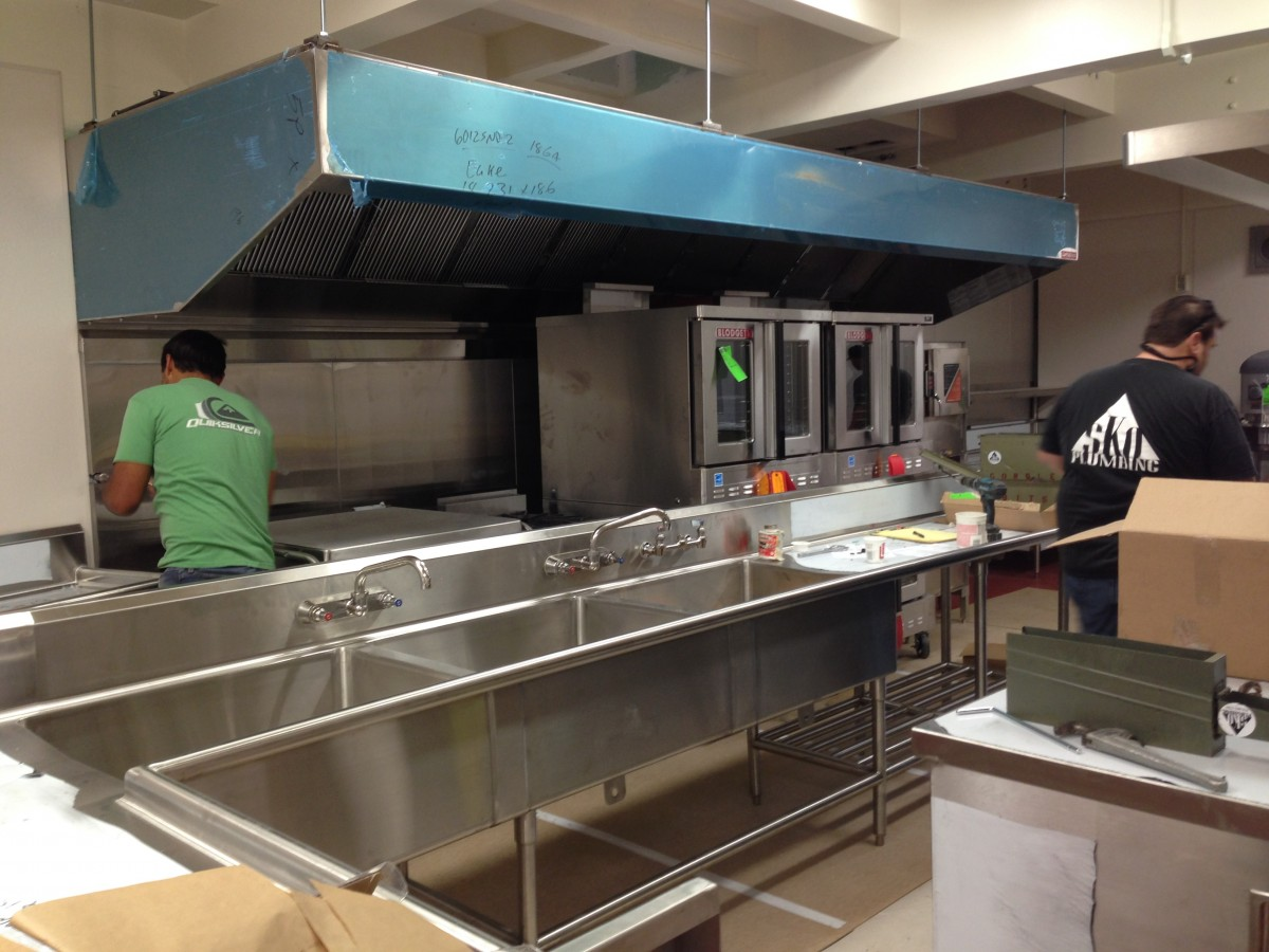 New school kitchens almost ready henry associates architects - Kitchen design school ...